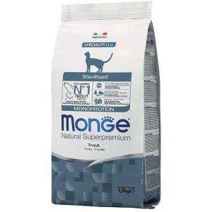 Monge Natural Monoproteico per Gatto Sterilised al Gusto Trota